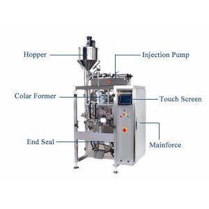 فرم پر کردن ماشین مهر و موم با پرکننده پرکننده برای مایع